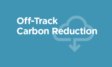 Off-Track Carbon Reduction 2020